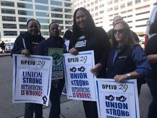 On Oct. 18,2018, Coalition of Kaiser Permanente Union Members deliver Petions to Kaiser's CEO Bernar